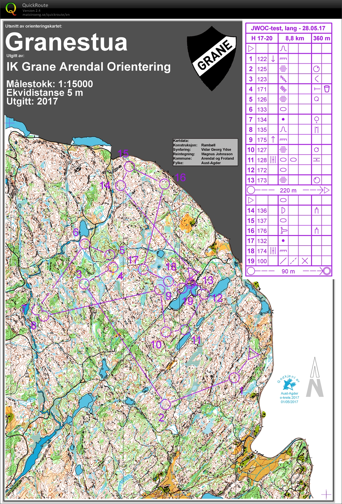 JWOC test Norway Langdistance (28.05.2017)