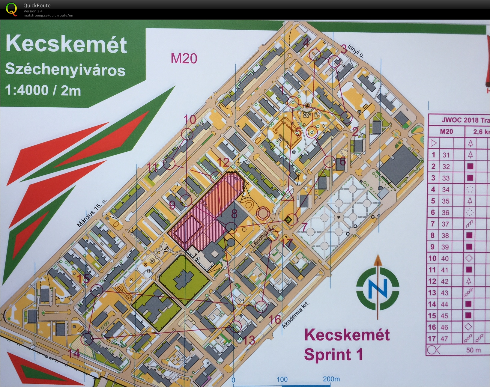 Hungary 2 sprintervals August 14th 2017 Orienteering Map from