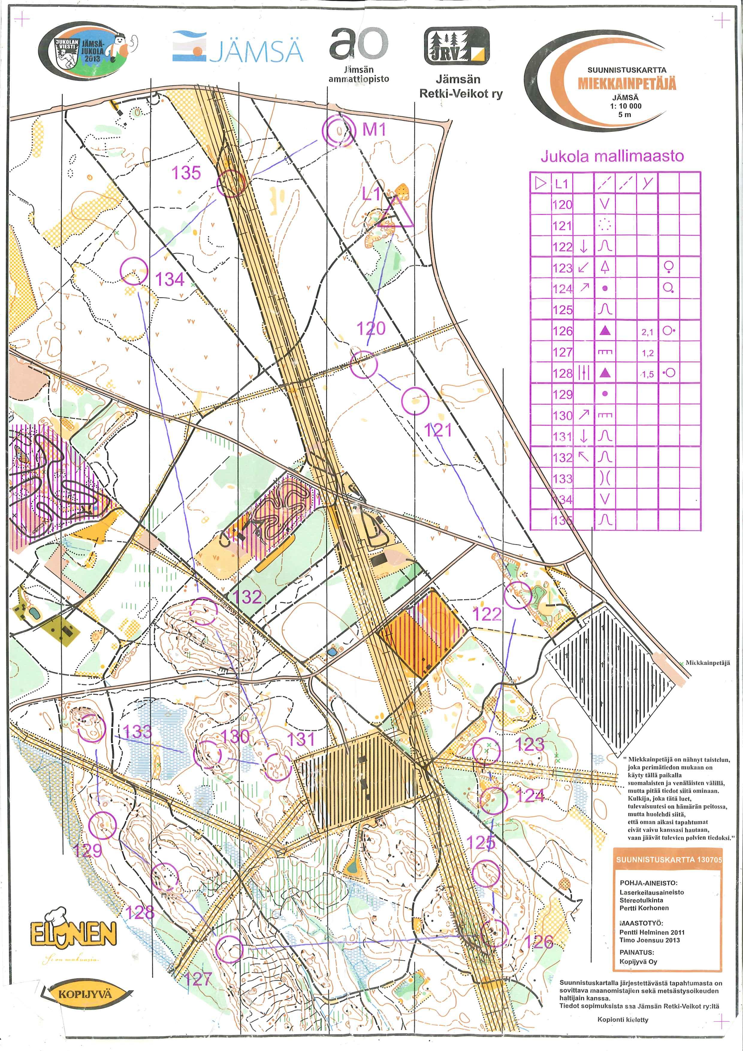 Jukolatrening Jms June 15th 2013 Orienteering Map from Anders
